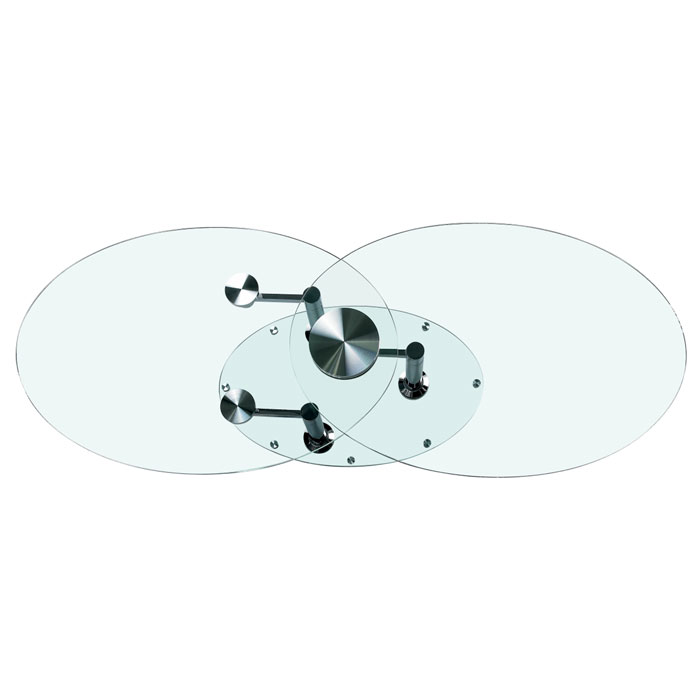 Selene Cocktail Table with Oval Glass Motion Top - CI-8090-CT
