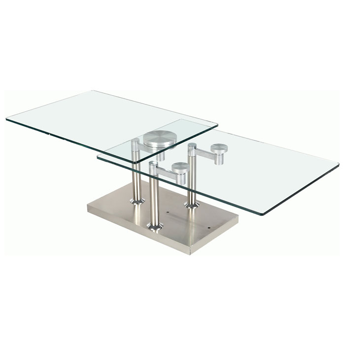 Theia Rectangular Cocktail Table with Motion Glass Top - CI-8164-CT
