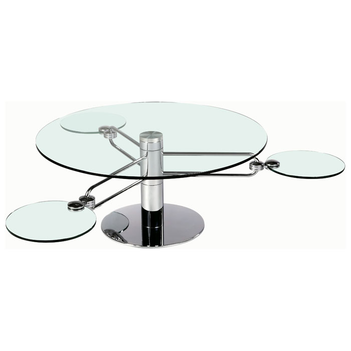 Minerva Round Cocktail Table with Retractable Arms - CI-8169-CT