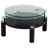 Circe Motion Cocktail Table - Glass Tops, Wood Base - CI-8174-CT