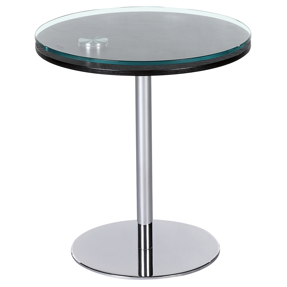 Motion Lamp Table Merlot And Clear Top Chrome Base
