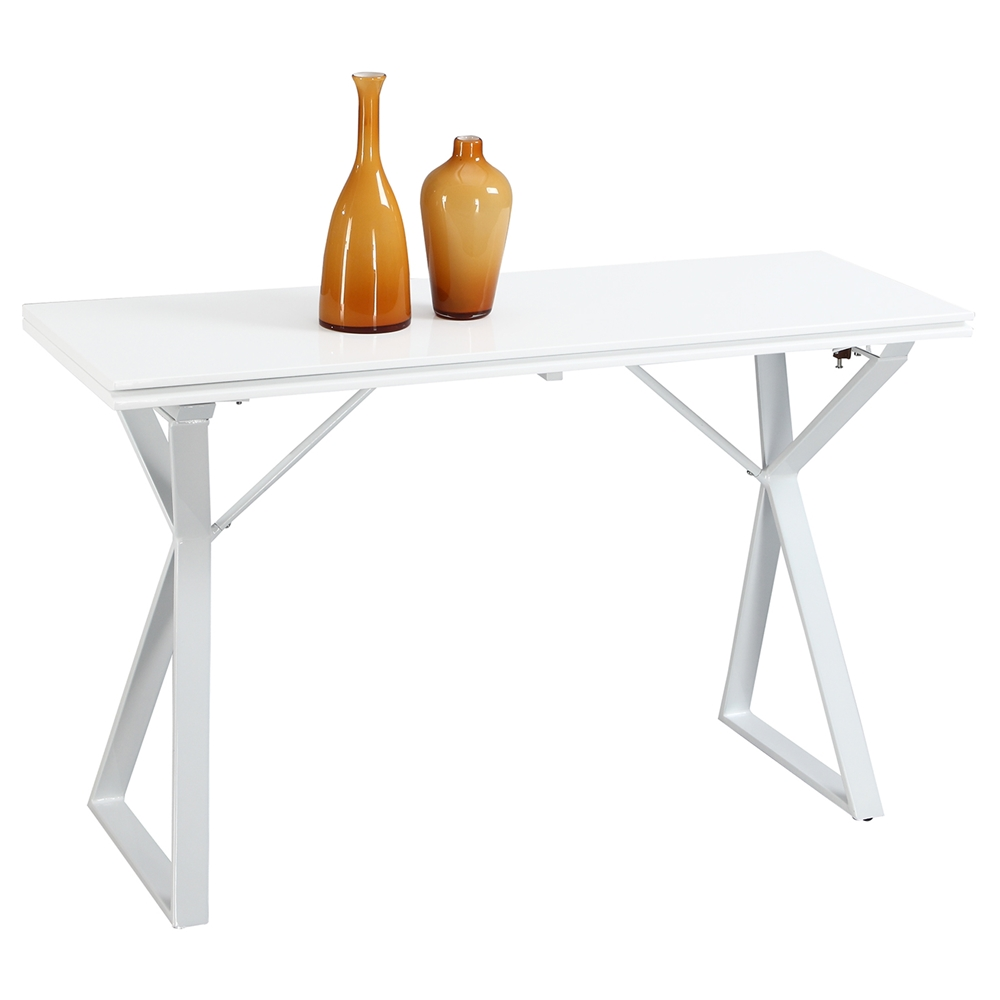 Sofa Table Flip Open White Dcg Stores