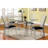 Aileen 5 Piece Dining Set with Glass Table Top - CI-AILEEN-5-PC-SET