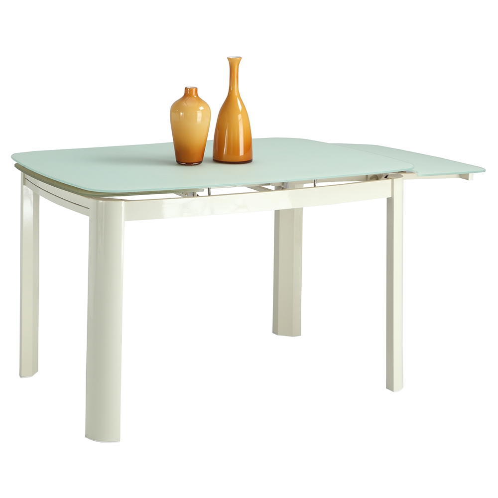Anna Self Storing Extension Dining Table Beige Frosted