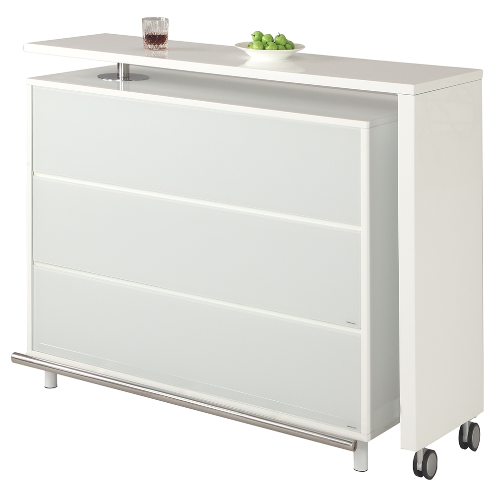 Barclay Bar Table Extendable 6 Shelves White Dcg Stores