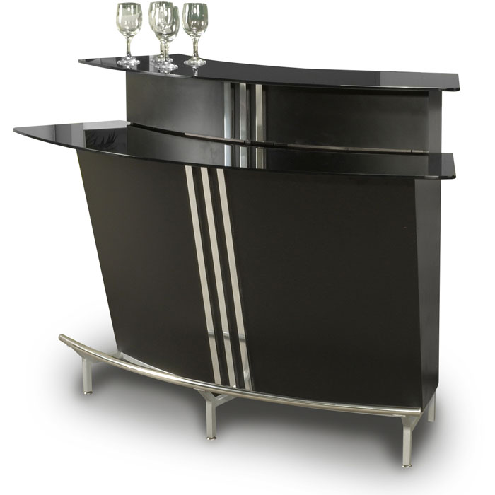 Broadway Modern Arched Bar   Black