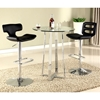 Chambers Contemporary Pub Table - Clear Glass, Chrome - CI-CHAMBERS-CNT