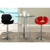 Anya Contemporary Swivel Stool - Adjustable Height, Red - CI-0632-AS-RED