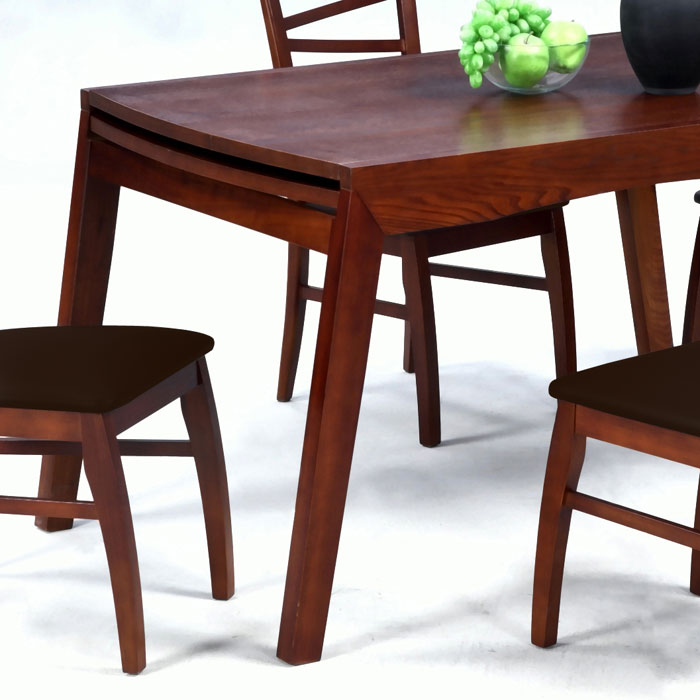 Cheri expandable dining table in dark oak dcg stores - Dark oak dining tables ...