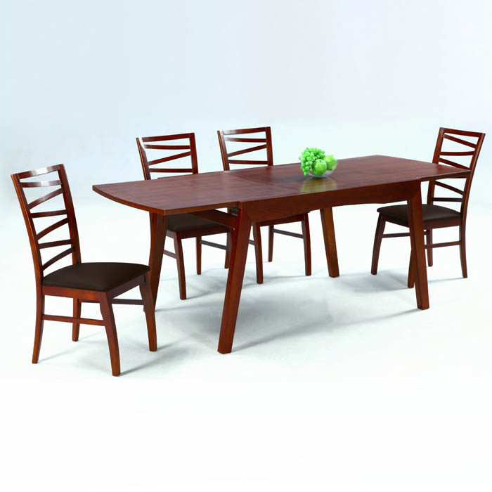 Cheri 5 Piece Dining Set with Expandable Table - CI-CHERI-5-PC-SET