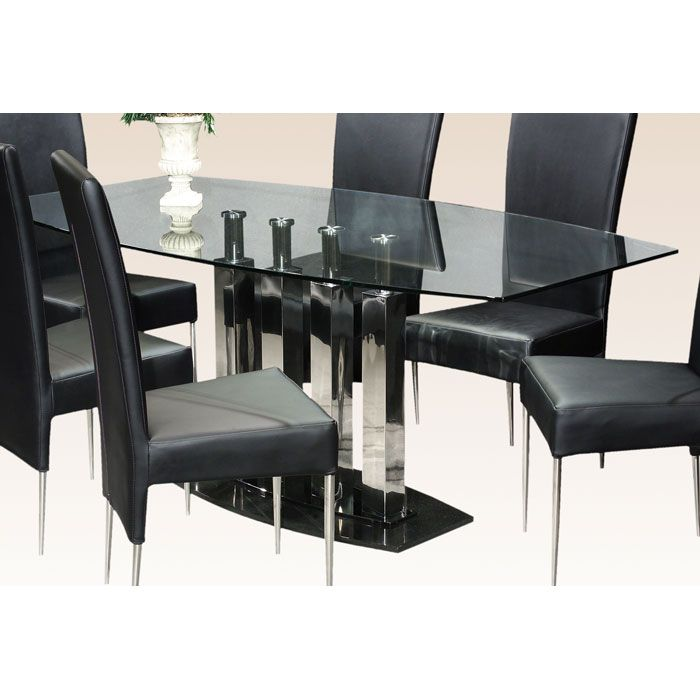 Cilla Dining Set with Black Marble Base - CI-CILLA-DT-5-PC-SET