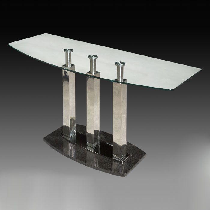 Cilla Sofa Table With Stainless Steel Columns Dcg Stores