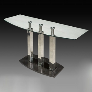Cilla Sofa Table with Stainless Steel Columns