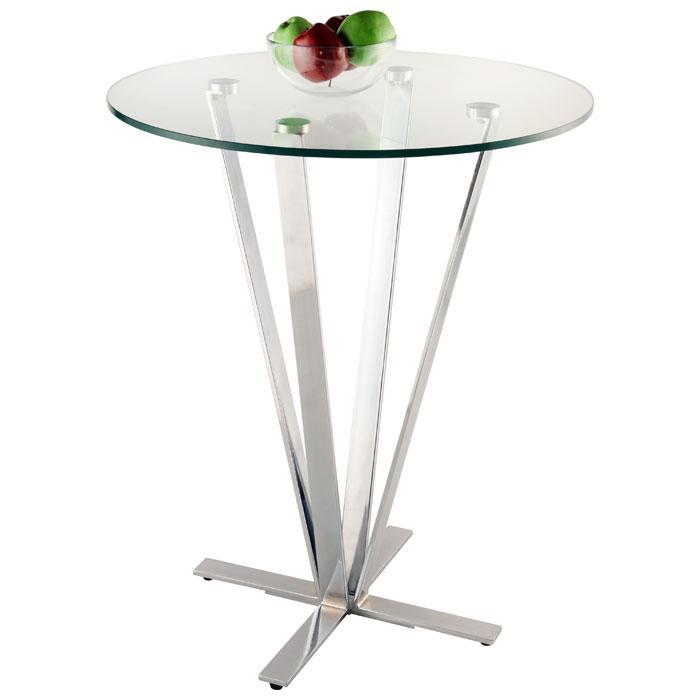 Cortland Pub Table Round Glass Chrome Dcg Stores