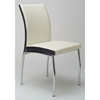 Dahlia Beige and Black Side Chair - CI-DAHLIA-SC