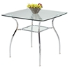 Daisy Contemporary Dining Set with Square Glass Table - CI-DAISY-5-PC-SET