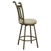 Darcy Counter Stool - Beige Seat, Bronze Frame - CI-DARCY-BS-BGE