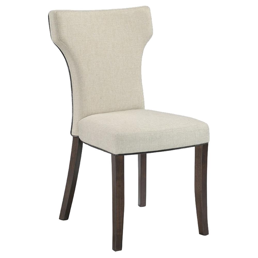 Davis Side Chair T Shaped Back Beige Set Of 2 Dcg