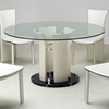 Deborah Round Clear Glass Dining Set - CI-DEBORAH-DT-5-PC-SET