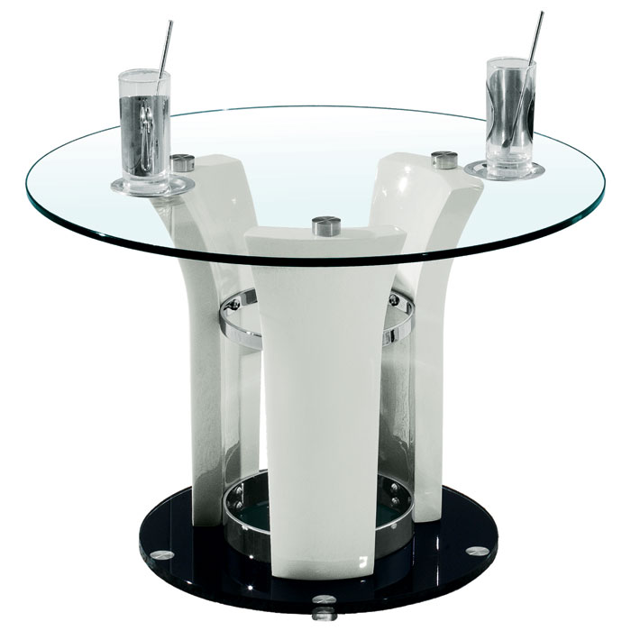Deborah End Table With Glass Top DCG Stores