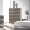 Delhi Contemporary Bedroom Chest - Glossy Gray, 5 Drawers - CI-DELHI-CHT