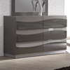 Delhi Contemporary Dresser   Glossy Gray  6 Drawers   CI DELHI DRS. Delhi Contemporary Dresser   Glossy Gray  6 Drawers   DCG Stores