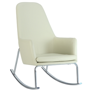 Durango Rocky Lounge Chair - Faux Leather, White