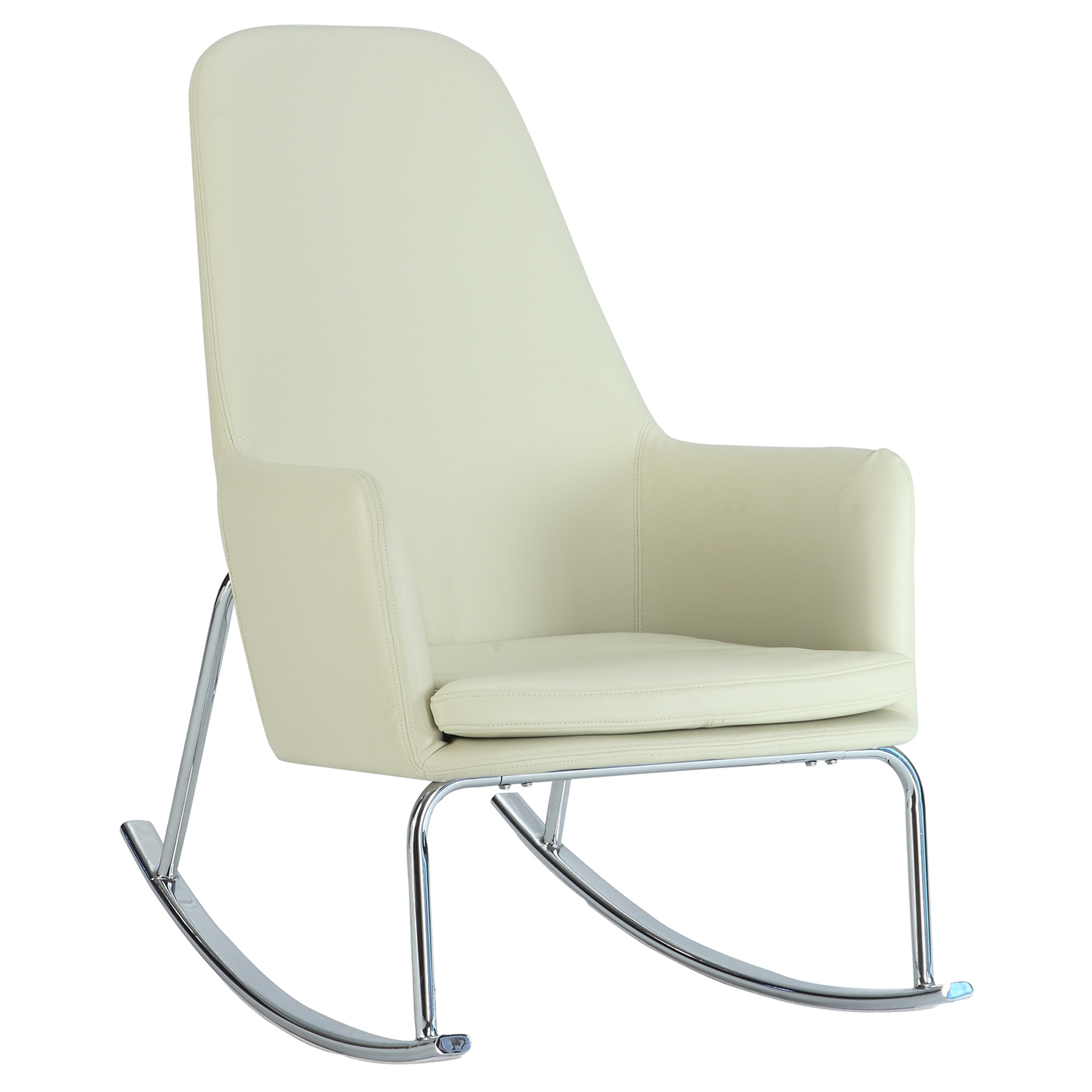 Durango Rocky Lounge Chair Faux Leather White