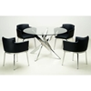 Dusty Contemporary Dining Set with Swivel Armchairs - CI-DUSTY-5-PC-SET