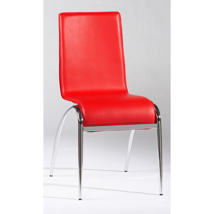 Beau Elaine Arched Leg Contemporary Side Chair In Red   CI ELAINE SC X ...