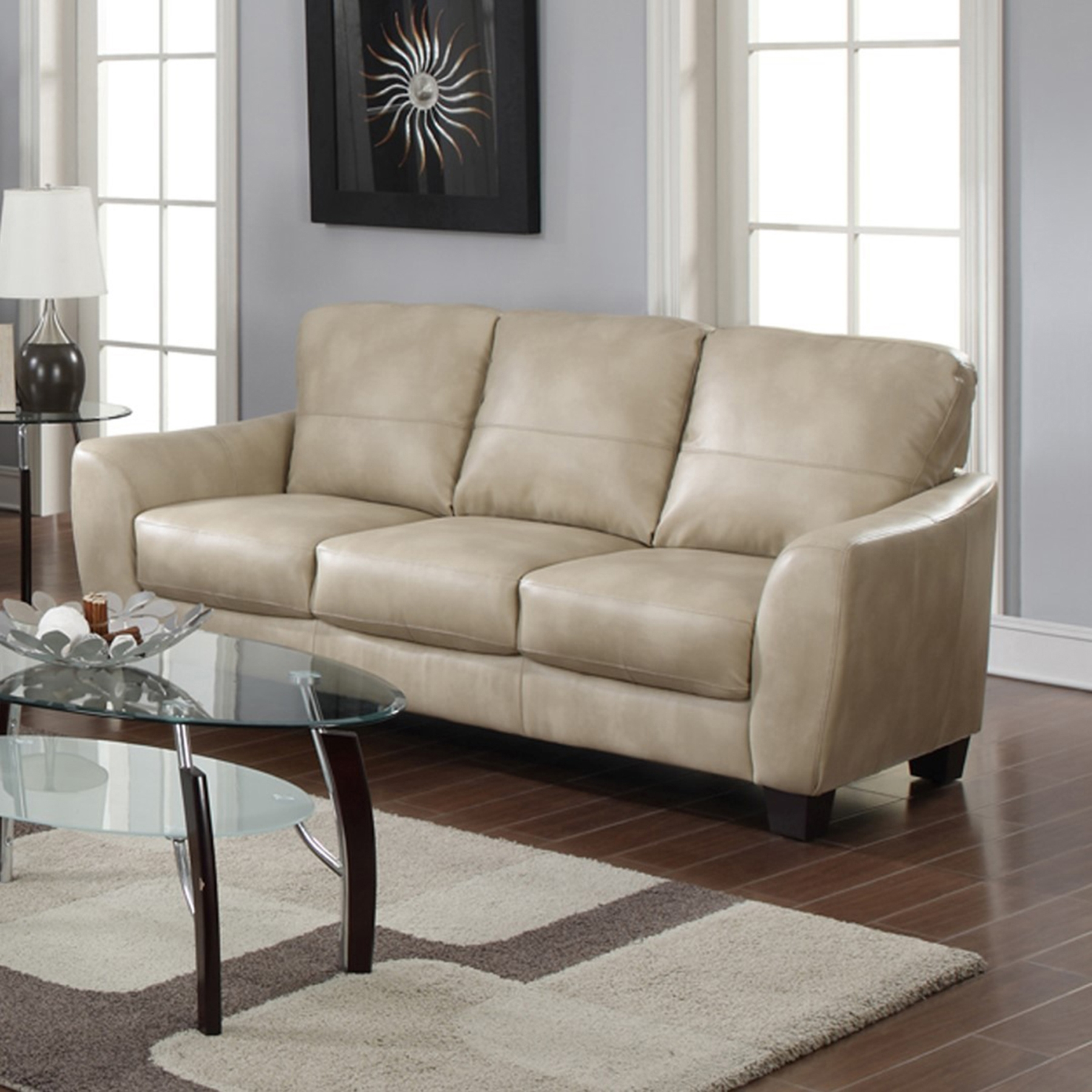 Fremont Bonded Leather Sofa   Taupe   CI FREMONT SFA TPE ...