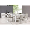 Gina Buffet - Open Storage, Gloss White and Gray - CI-GINA-BUF