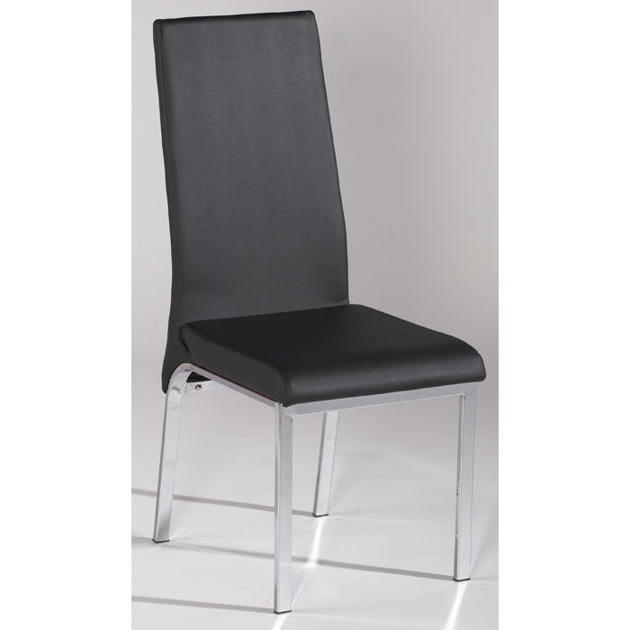 Gloria Black Upholstered Side Chair - CI-GLORIA-SC-BLK