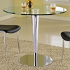 Grand Contemporary Pub Table - Round Glass, Chrome - CI-GRAND-CNT