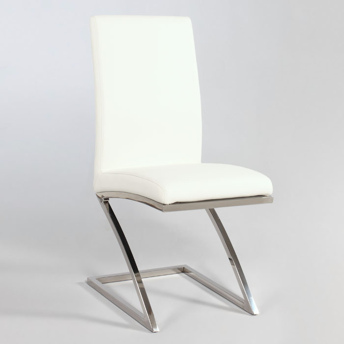 Jade contemporary side chair with z shaped base dcg stores for Z shaped dining room chairs
