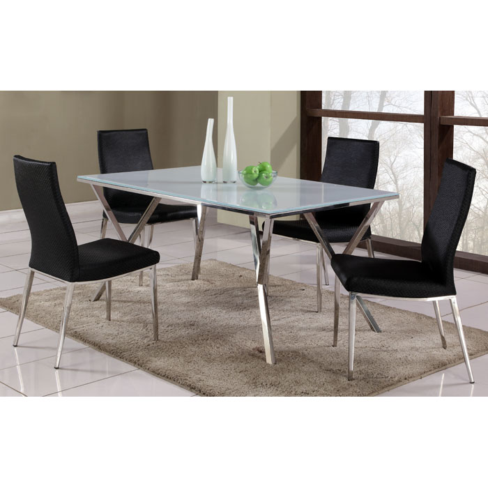 Jade White Glass Top Dining Table Dcg Stores