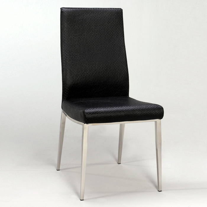 Jamila Black Side Chair With Contoured Back Dcg Stores