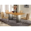 Jessica Contemporary Dining Table - Matte Light Oak Top - CI-JESSICA-DT