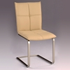 Jessica Side Chair - Khaki Upholstery, Cantilever Base - CI-JESSICA-SC