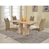 Josephine 5 Pieces Rectangular Dining Set - Light Oak, Taupe - CI-JOSEPHINE-5PC