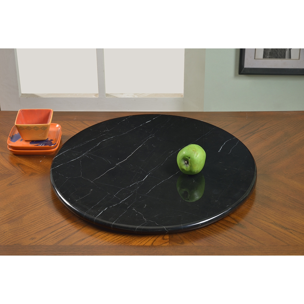 Lazy Susan Round Rotating Tray Black Marble Dcg Stores