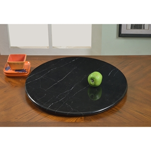 Lazy Susan Round Rotating Tray - Black Marble