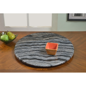 Lazy Susan Round Rotating Tray - Gray Marble