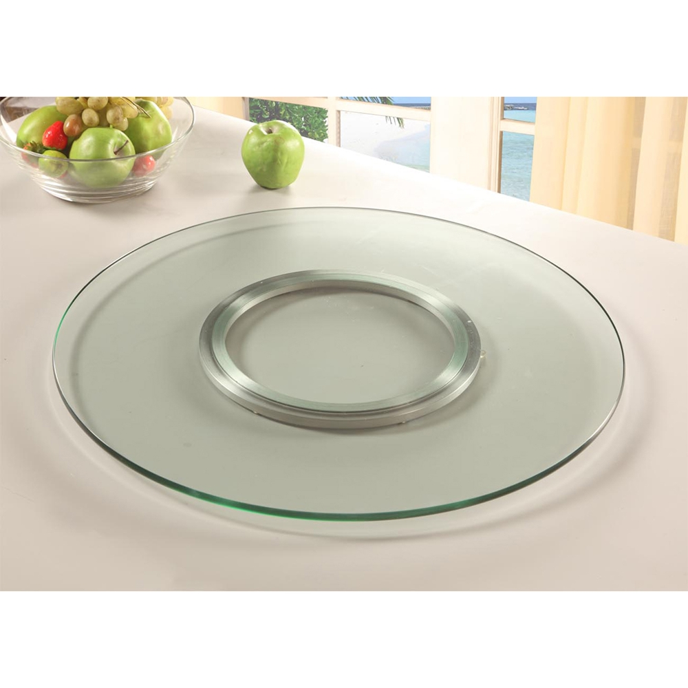 Lazy Susan Round Spinning Tray Clear Tempered Glass Dcg Stores
