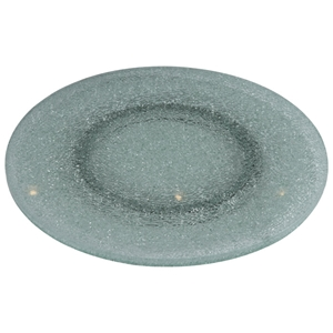 Rotating Tray/Lazy Susan - 24 Round, Crackled Glass, Clear