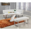 Linden Bench - Faux Leather, Gloss White - CI-LINDEN-BCH-WHT