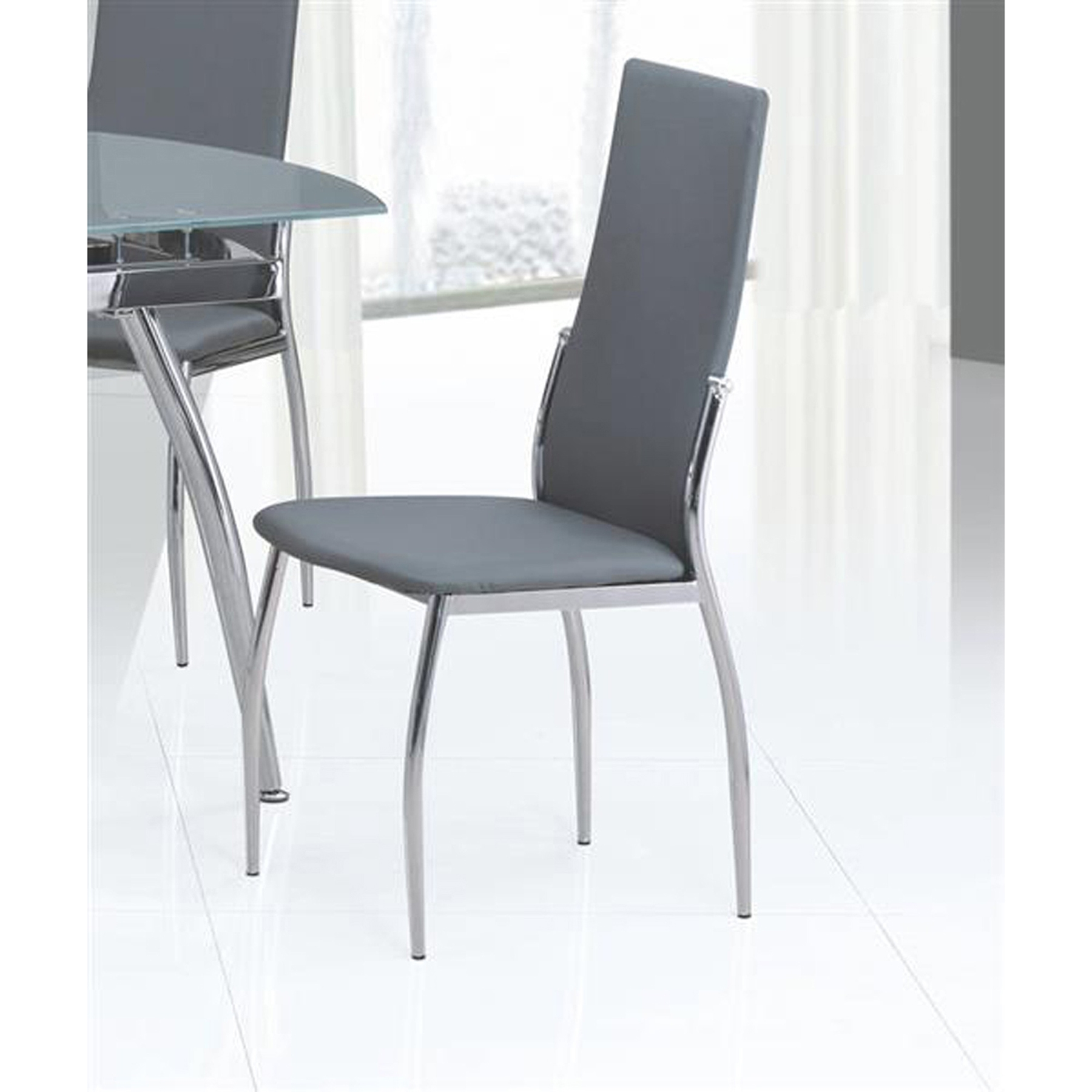 Luna Side Chair Contour Back Gray Set Of 4 Dcg Stores