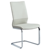 Lydia Cantilever Side Chair - Cream, Sled Chrome Base (Set of 2) - CI-LYDIA-SC-CRM