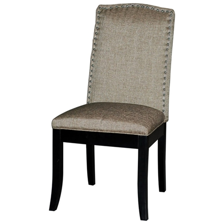 Macy parsons chair upholstered back nailhead accents for Upholstered parson dining chairs