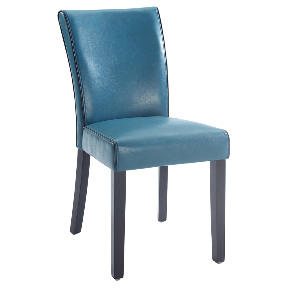 Michelle Parsons Chair Bonded Leather Blue Set Of 2